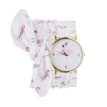 Summer Women Bracelet Watches Flamingo Pattern Stylish