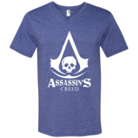 Assassin's Creed t shirt 982 Anvil Men's Printed V-Neck T-Shirt
