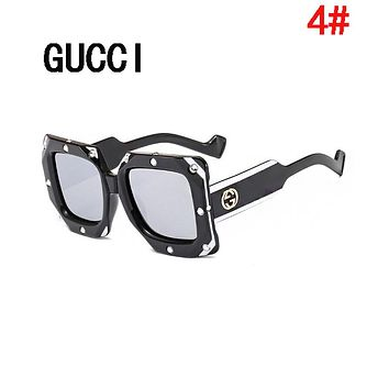 GUCCI Summer Newest Popular Women Men Casual GG Diamond Shades Eyeglasses Glasses Sunglasses 4#