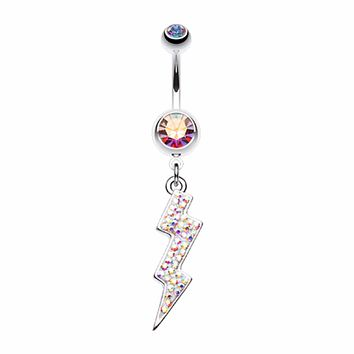 Lightning Bolt Radiance Belly Button Ring