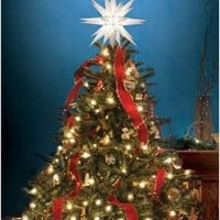 "Keystone 12"" Illuminated Star Christmas Tree Topper"