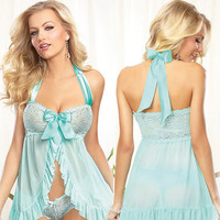Cute Hot Deal On Sale Blue Sexy Sleepwear Exotic Lingerie [6595855939]