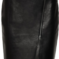 Alexander Wang | Asymmetric leather pencil skirt | NET-A-PORTER.COM