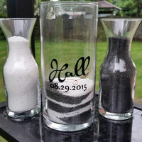 Glass Sand Ceremony Set