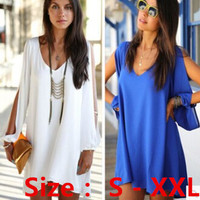 Women Summer Dress 2015 New Sexy Womens Loose Sexy V Neck Strapless A line Casual Mini Shirt Dress White Beach Dresses-in Dresses from Women's Clothing & Accessories on Aliexpress.com | Alibaba Group