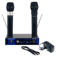 Dual Channel VHF Rechargeable Wireless Microphone System, Frequency Sets: VHF A, VHF B