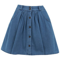 Petites Chambray Skirt - Skirts  - Apparel