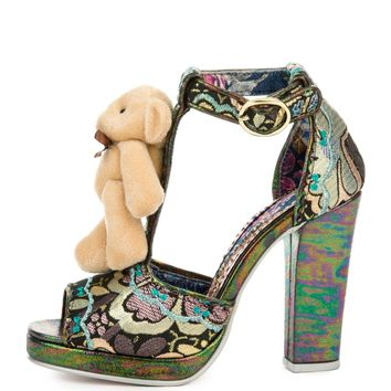 Women's Buddy Bear Black High Heel