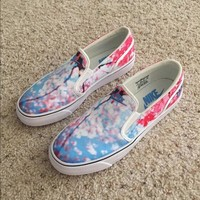 nike toki slip on cherry blossom canvas leisure shoes