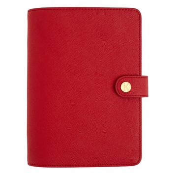 LIMITED EDITION TEXTURED LEATHER PERSONAL PLANNER MEDIUM: RED