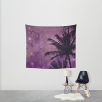 Purple Sky Palm Wall Tapestry by UMe Images