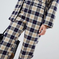 Monki Check Wide Leg Pants at asos.com
