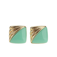 Square Vintage Post Earring