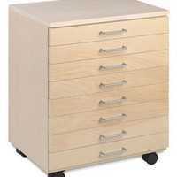51243-1008 - SMI Unfinished Birch Flat File Taborets - BLICK art materials
