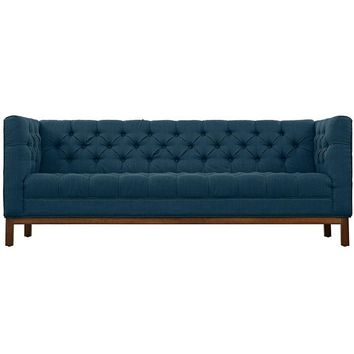 SAVION UPHOLSTERED FABRIC SOFA IN AZURE