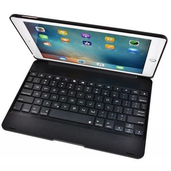 Flip Tablet Cover Case with Wireless Bluetooth Keyboard  for 5th 6th Gen New Apple iPad Air 1 2 5 6