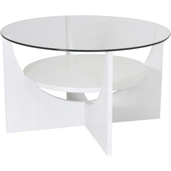 U-Shaped Coffee Table, White