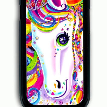 Samsung Galaxy S3 Case - Hard (PC) Cover with Lisa Frank Majesty The Rainbow Horse Plastic Case Design