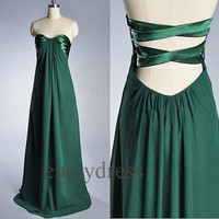 Custom Dark Green Long Prom Dresses Evening Dress Party Dress Wedding Party Dress Sexy Evening Gowns Fashion Bridesmaid Dresses