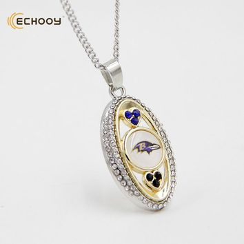 woman classic jewelry Personalized Font Baltimore Ravens Pendant Necklaces Custom football team logo necklace Bridesmaid Gift