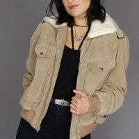 Don't Look Back Wilson's Sherpa Suede Bomber Jacket