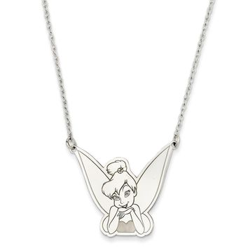 Sterling Silver Disney 18inch Tinker Bell Necklace