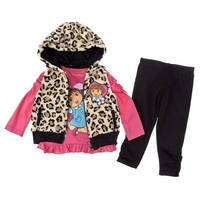 3PC DORA FUR VEST SET