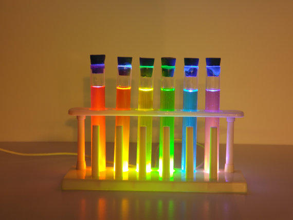 Light-up Chemistry Test Tube Set from LaboratoryOne on ...