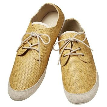 Summer Tan Woven Sneakers