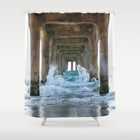 CALIFORNIA Shower Curtain by Oksana Smith