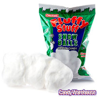 Fluffy Stuff White Cotton Candy Snow Balls Bags: 24-Piece Case | CandyWarehouse.com Online Candy Store