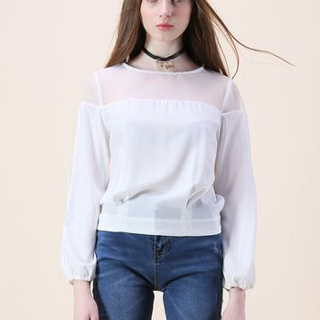 In Leisure Company Organza Top in White
