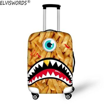 CREYCI7 ELVISWORDS 2017 New Durable Luggage Protective Cover Funny Emoji 3D Printing Travel Luggage Cover Suitcase Protective Cover Case