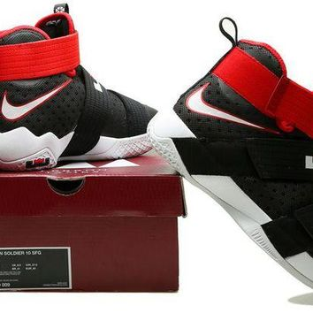DCCK Nike LeBron Soldier 10 X 'Game Red' Sneaker