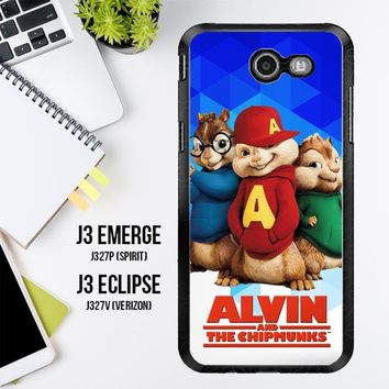 Alvin And The Chipmunks R0317 Samsung Galaxy J3 Emerge, J3 Eclipse , Amp Prime 2, Express Prime 2 2017 SM J327 Case