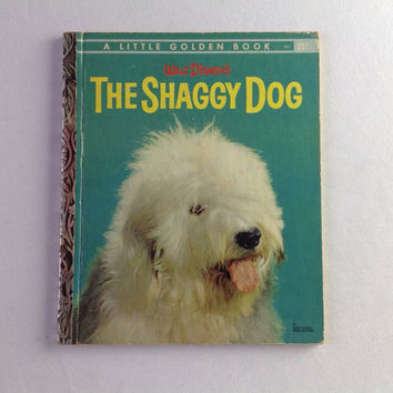 Vintage Walt Disney The Shaggy Dog Little Golden Book 1959