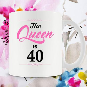 40th Birthday Gifts For Mom Birthday Gift For Women Birthday Coffee Mug Bday Present For Her Coffee Cup 40 Years Old Ceramic Mug - BG258