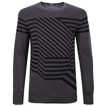 New High Quality Autumn Winter Men's Sweaters Pattern Slim Fit Men Pullover Knitted Sweater Male Clothing