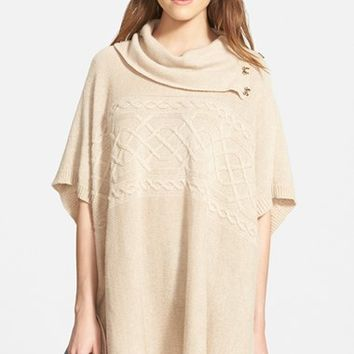 Women's NYDJ Cable Cowl Neck Poncho,