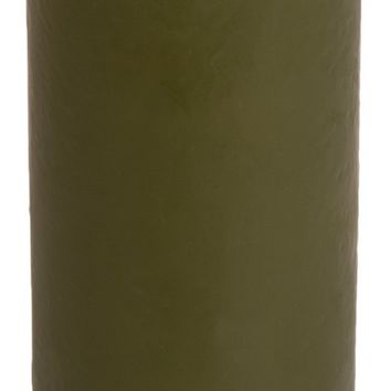 Classic Hurricane Pillar Candles (Pair) | Moss Green