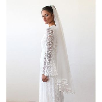 Veil With Lace Trim 4015