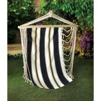 Navy Striped Hanging Swing Chair