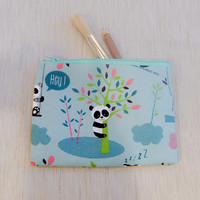 Panda Gift For Her/ Make Up Bag Gift for Women/ Wife Gift/ Gift for Mom/ Birthday Gift/ CoWorker Gift/ BFF Gift/ Pencil Case/ Pouch/ Gift
