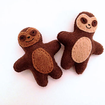 Brown and Tan Pocket Sloth Plush Toy