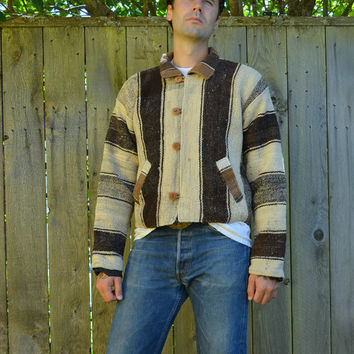 Vintage Native American Southwestern Dusty Desert Hemp Twill Jacket