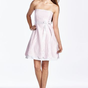 Women's Princess Seam Dress with Laser Cut Hem Detail