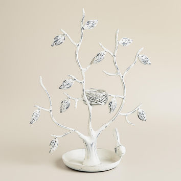 White Tree and Nest Jewelry Stand - World Market