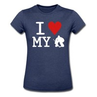 I Love My Goalie (hockey) T-Shirt | Spreadshirt | ID: 8139217