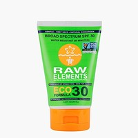 Raw Elements Certified Natural Sunscreen | Non-Nano Zinc Oxide, 95% Organic, Very Water Resistant,...