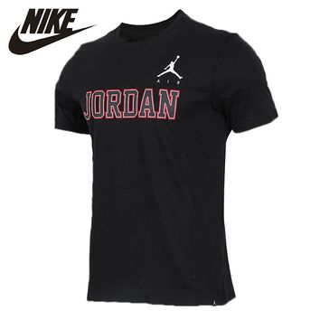NIKE Air Jordan Original Mens T-shirt Quick Dry Cotton Support Sports Running T-shirt For Men#944223-010